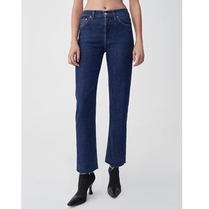 ReDone High Rise Stove Pipe Jeans